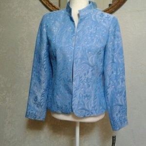 NWT Scott Taylor Jacket Blazer Blue Floral size S